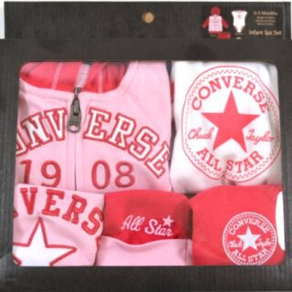 Converse Zip Hoodie, Leggings, Body, Hat & Bib Set - Barberry