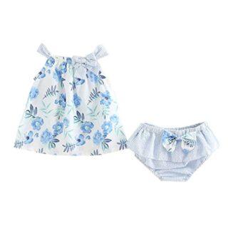 Counjunto de Ropa bebé niña Verano 2pcs Bebés niñas impresión Floral T...