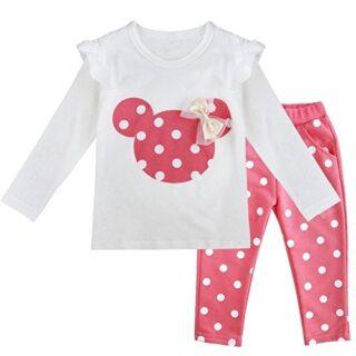 IEFIEL Conjuntos de Top y Pantalones Largas para Niña y Bebé Camiseta ...