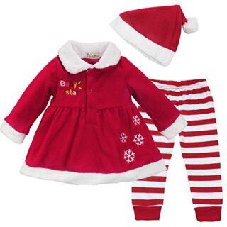 IEFIEL Conjuntos de Tres Piezas Navidad Reyes Fiesta Vestido + Pantalo...