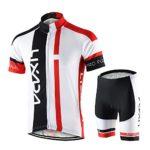 Lixada Maillots de Ciclismo Hombres Camiseta y Pantalones Cortos de Ci...