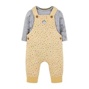 Mothercare NB Ad Mustard AOP Dung Conjunto, 74, New Baby (Size:56) par...