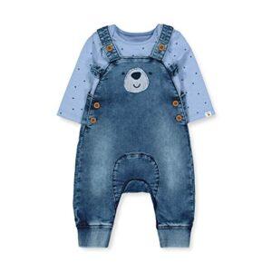 Mothercare NB IP Bear Dungaree Conjunto, (Denim 18), 0-3 Months (Size:...