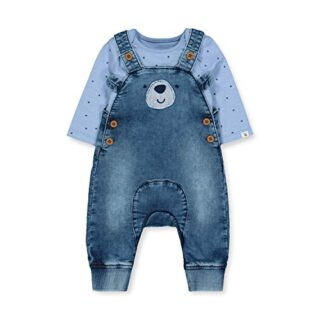 Mothercare NB IP Bear Dungaree Conjunto, (Denim 18), 0-3 Months (Size:...