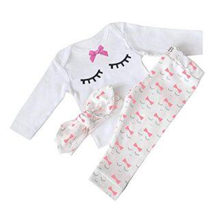 Nwada Conjuntos de Ropa para bebés niña Camisetas de Manga Larga Panta...