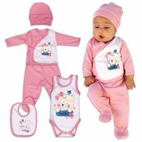 QAR7.3 5en1 Conjunto, Ropa para Bebés Niñas, 0-3 Meses, 100% Algodón, ...