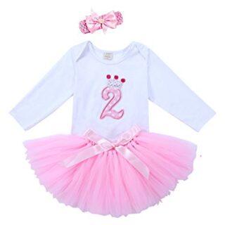 URBEAR Bebé Niña 3pcs Corona Patrón de primer cumpleaños para vestido ...