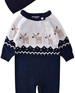 ZOEREA Peleles Bebe Invierno niño Sweater suéter Navidad Onesies Rompe...