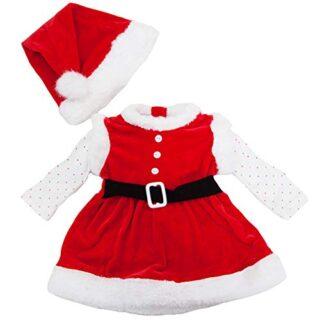 toocool-Completo niña bebé pelele Vestido Papá Noel gorra Nuevo fk82...