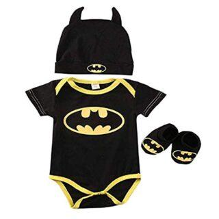 3 Unids Ropa Bebe Verano BEBšŠS RecišŠN Nacidos Bebe Ni?Os Batman Mame...