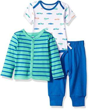 Amazon Essentials - Conjunto de 3 piezas con  cárdigan para niño, Boy ...