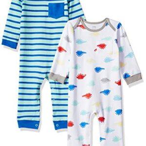 Amazon Essentials - Pack de 2 peleles para niño, Boy Dino, US 3-6M (EU...