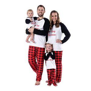 BOBORA Pijamas Familiares de Navidad, Conjunto de Ropa de Dormir de al...