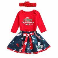 Baby Girls My First Christmas Outfit Vestido de Falda de tutú de Mamel...