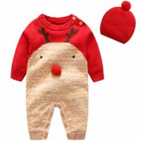 Bebe Mameluco Niños Jersey Navidad Mono - Pijama Invierno Bebé Niñas A...
