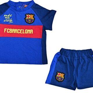 Conjunto bebé Barca-+ Short-Camiseta Oficial FC Barcelona, Bebé ni...