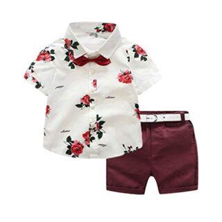 Conjuntos Bebé Niño, JiaMeng Conjunto de Traje de Pantalones Cortos pa...