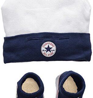 Converse Hat and Bootie Conjunto de Ropa, (Navy), 0/6 Meses (Talla del...