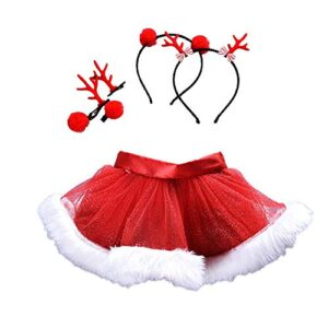 Fossen Disfraz Navidad Bebe Niña Fotografia Tutu Falda Corta + Conjunt...