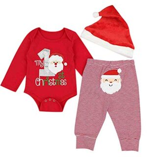 Fossen My First Christmas Disfraz Navidad Bebe niño niña Ropa de Conju...