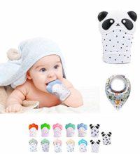 Funky Planet Baby dentición Manoplas, Protege Manos Bebés, Pain Relief...