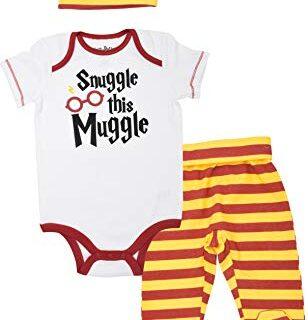 Harry Potter Conjunto de Body con Pantalones y Gorro - Disfraz Friki D...