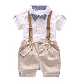 K-youth® Conjunto Para Bebé Niño, Ropa Bebe Niño Verano Camisa de Mang...