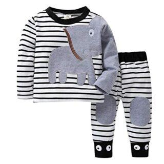 K-youth Ropa Bebé Recién Nacido, Ropa Bebe Niño Camisetas de Manga Lar...