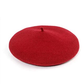 Kids Toddler Little Girls Pure Color Vintage French Beret Hat Otoño In...