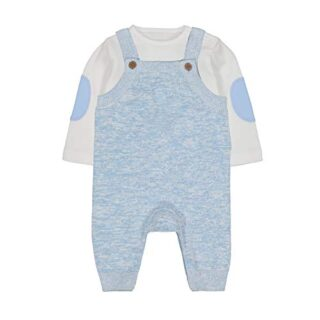 Mothercare NB MFB Knitted Dungaree Set Conjunto, ((Blue 128), 12-18 Mo...