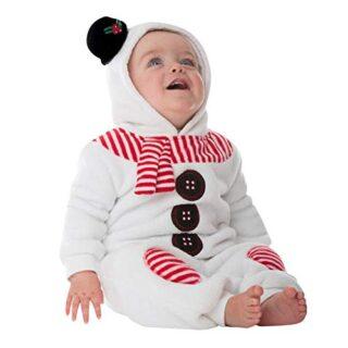 Pelele Navidad Bebe niño niña Conjunto Mameluco de Felpa de Manga Larg...