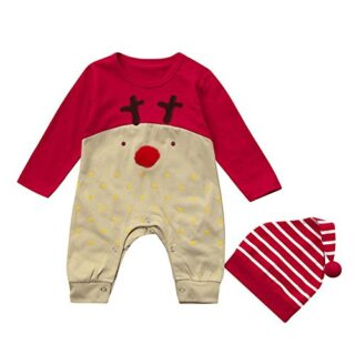 QUICKLYLY 2pcs Peleles Navidad Bebé Niño Niña Conjunto Recién Infantil...