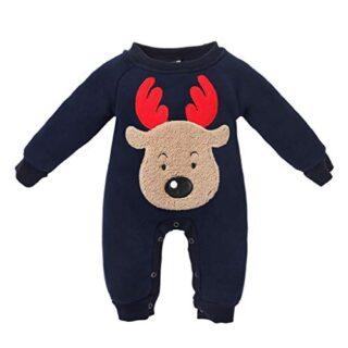QUICKLYLY Navidad Peleles Pijamas Conjunto Bebé Niño Niña Recién Infan...