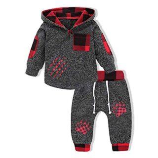 Sfuzwg Conjunto de Ropa para bebé y niño, con Capucha, estilosa, con B...