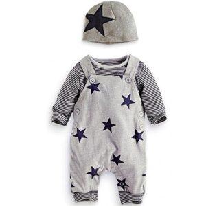 Traje Bebé, LANSKIRT 3PCS para Recién Nacido Bebé Niño Niña Camiseta a...