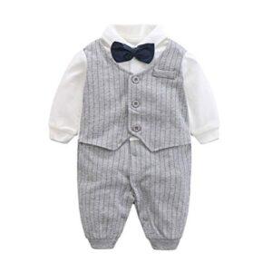 Traje formal para bebé, De la marca Baby Boy, de manga larga Gris Grey...