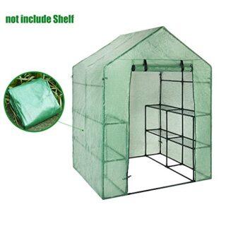Cubierta de plástico para jardín, invernadero recambiable, con 8 estan...