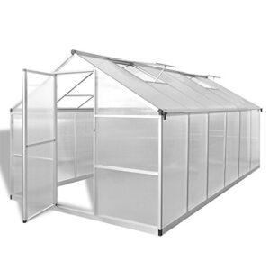 Festnight Invernadero de Aluminio Reforzado con Base Incorporada, 9,02...