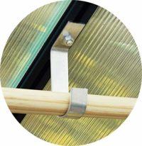 MacGreen® de Invernadero de Aluminio stabhalter (6Unidades)