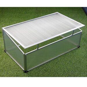 Semillero aluminio 100x 60x 40cm, policarbonato, invernadero.