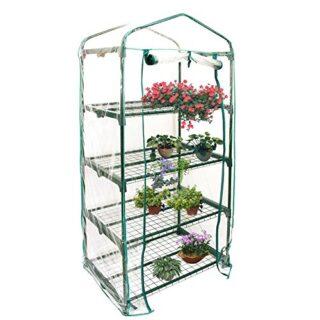 Somedays Cubierta de invernadero de PVC para jardín con mini pisos de ...