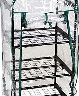 hibuy - Invernadero (Ideal para el balcón, 105 cm, 3 Pisos)