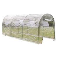 vidaXL Invernadero Portátil de PVC Transparente Caseta de Plantar Jard...