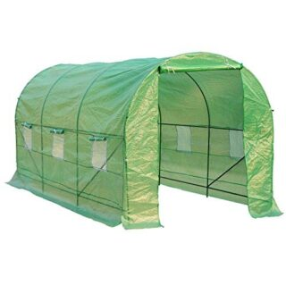 HOMCOM - Invernadero caseta 450 x 200 x 200 Jardin terraza Cultivo de ...