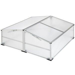 TecTake Invernadero de jardín aluminio jardinera de protección | resis...
