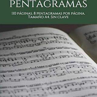 Cuaderno de pentagramas: 110 páginas. 8 pentagramas por página. Tamaño...