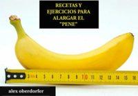 RECETAS Y EJERCICIOS PARA ALARGAR EL PENE