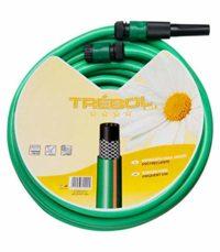 "SATURNIA 8070667 Manguera Verde Trebol Trenzado 15 mm. - 5/8"" Rollo 15..."