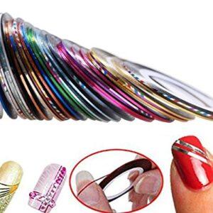 32 Colores Da.Wa Clavo Arte Decoración Uñas Arte Cinta Adhesiva Utensi...
