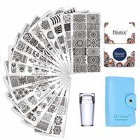 Biutee Nail Art Stamping 15pcs PlacasEstampacionUñas para Manicura +...